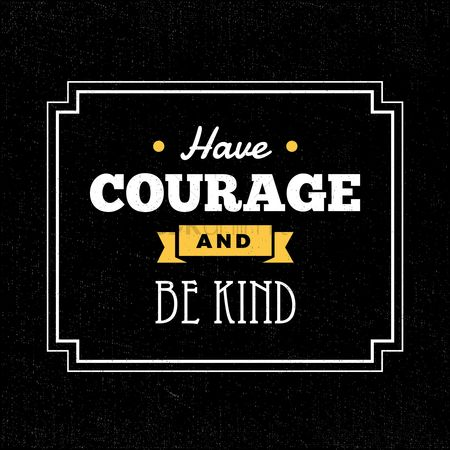 Compassion : Courage typography design