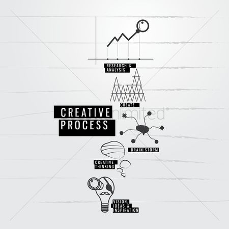 Magnifying : Creative process icons