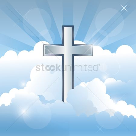 Christian : Cross in the sky and clouds
