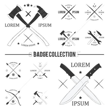 Badge : Crossed labels collection