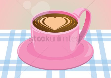 Heart : Cup of cappuccino in the form of heart
