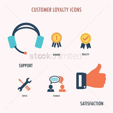 Microphones : Customer loyalty icons