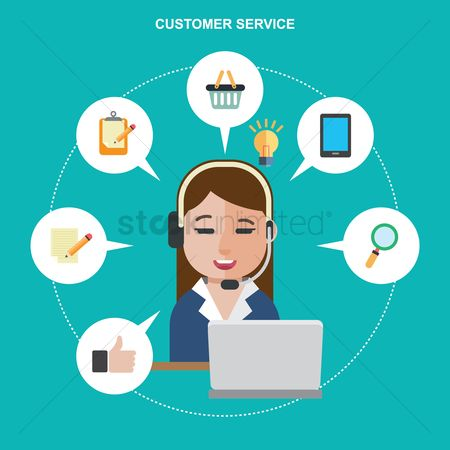 Shopping : Customer service employee