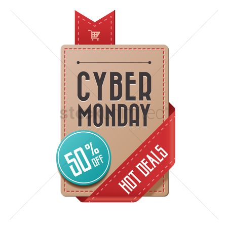 E commerces : Cyber monday hot deals label