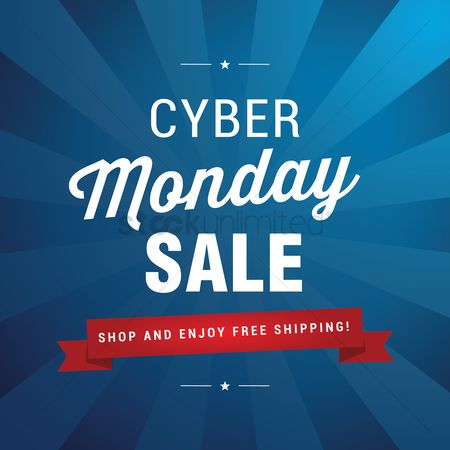 Shopping background : Cyber monday sale