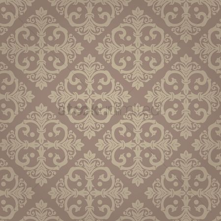 Royal : Damask vintage brown pattern
