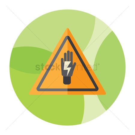 Beware : Danger electrical hazard sign