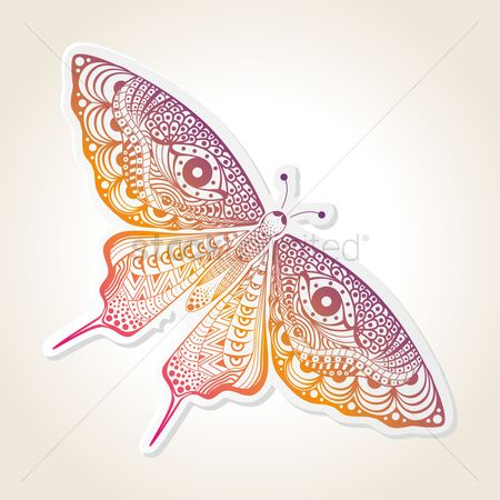 Sketching : Decorative butterfly design