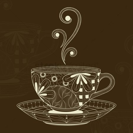 Coffee : Decorative cup