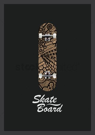 Skateboard : Decorative skateboard