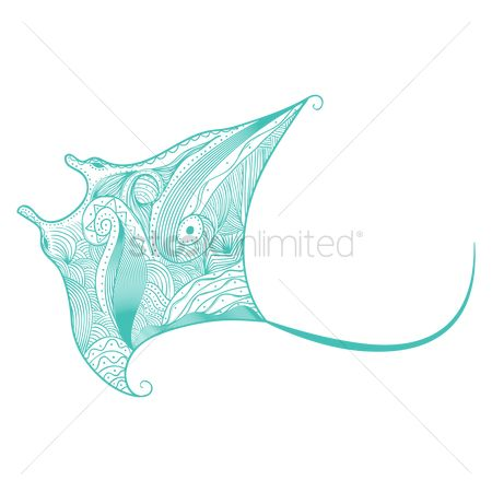 Sketching : Decorative stingray design