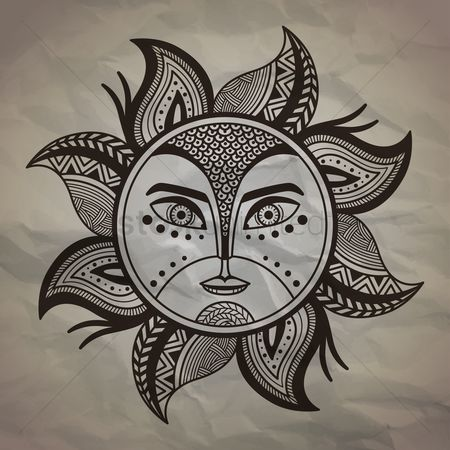 Sketching : Decorative sun