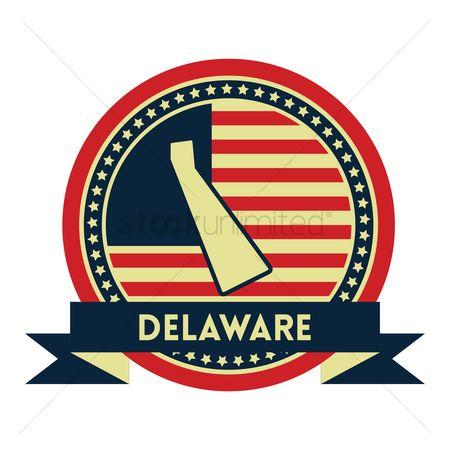 Delaware : Delaware map label