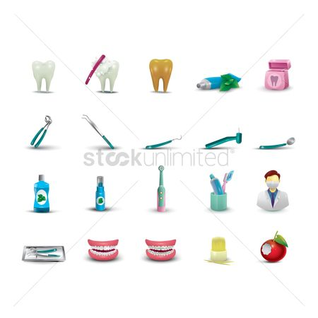 Tooth with braces : Dental collection