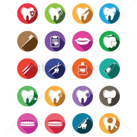 Tooth with braces : Dental icon