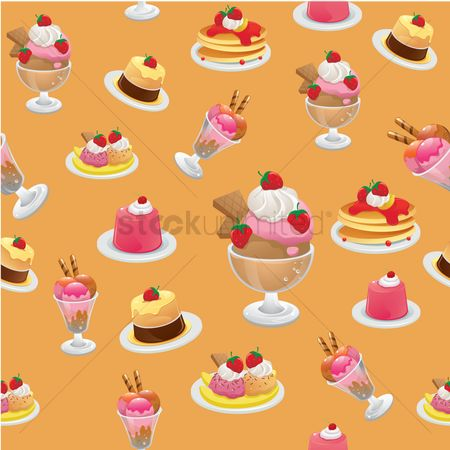 Hotcake : Dessert background