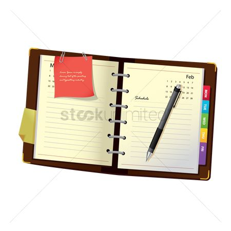 Supply : Diary with pen