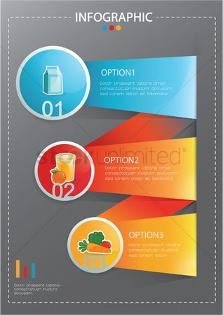 Drinks : Diet menu infographic