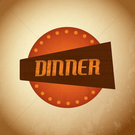 Oldfashioned : Dinner signboard
