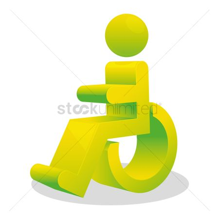 Wheelchair : Disabled on wheelchair