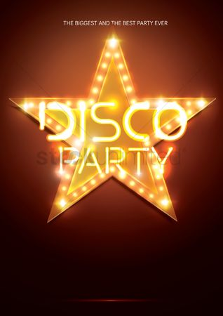 Commercials : Disco party poster design