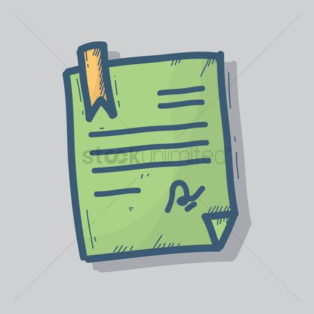 Signatures : Document with bookmark