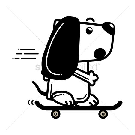Skateboard : Dog on skateboard