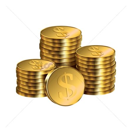 Stack : Dollar coins