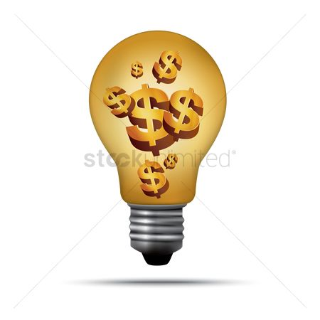Electricity : Dollars in bulb
