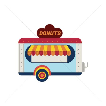 Businesspeople : Donut truck