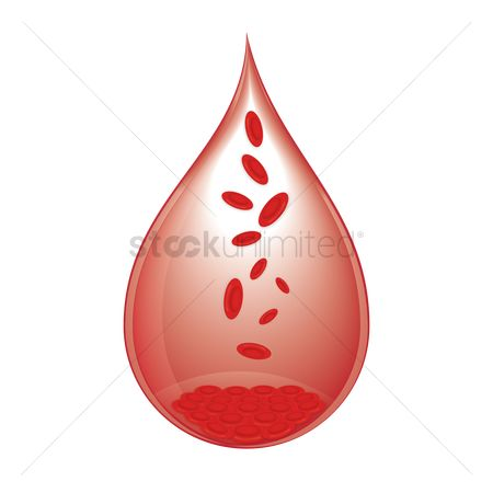 Plasmas : Drop of red blood cell