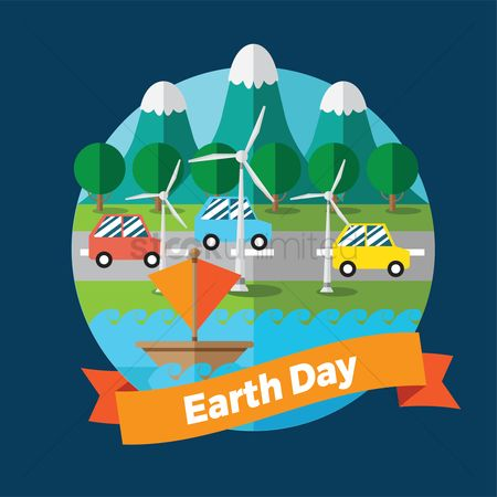 Electric cars : Earth day design