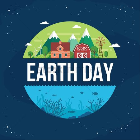 Marine life : Earth day design