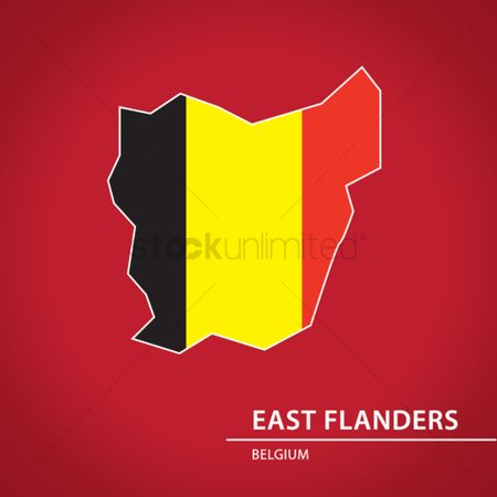 Belgium : East flanders map