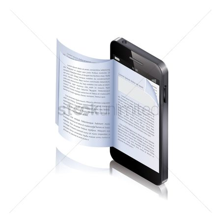 Stories : Ebook concept on a mobile phone