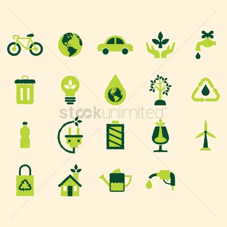 Electric cars : Eco friendly icons
