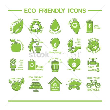 Clean : Eco friendly icons