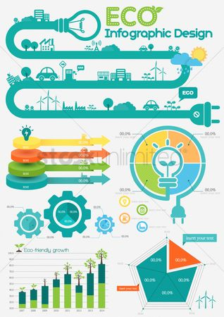 Cogwheels : Eco infographic design