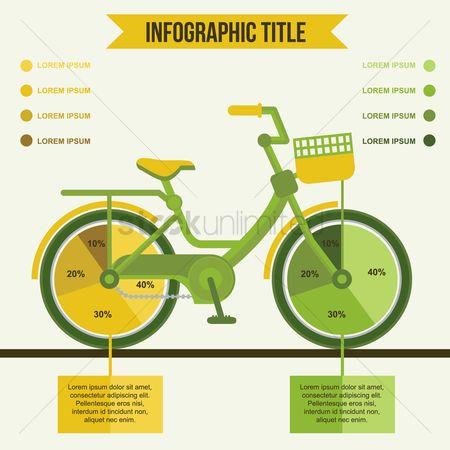 Bicycles : Ecology concept infographic