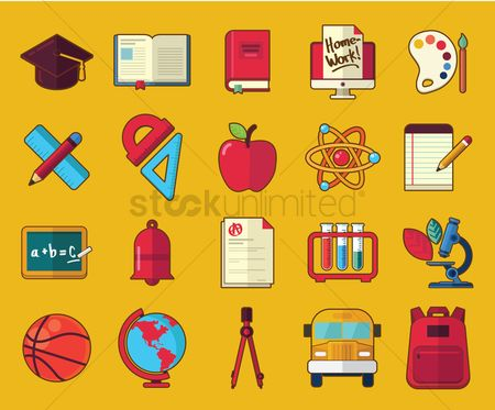 Sports : Education icon set