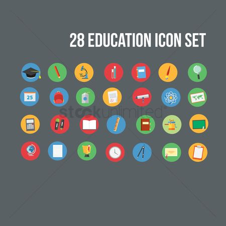 Highlighters : Education icon set