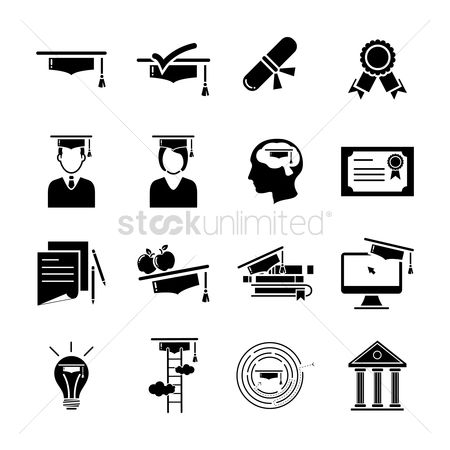 Contemplate : Education icon set