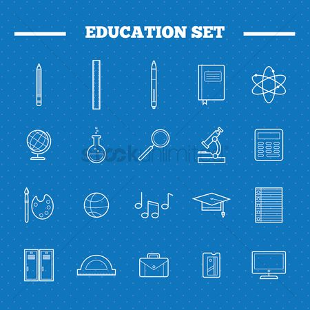 Briefcase : Education icons set