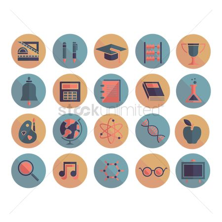 Setsquare : Education icons