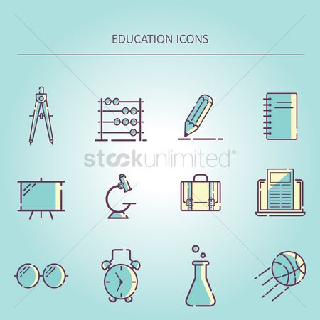 Electronic : Education icons