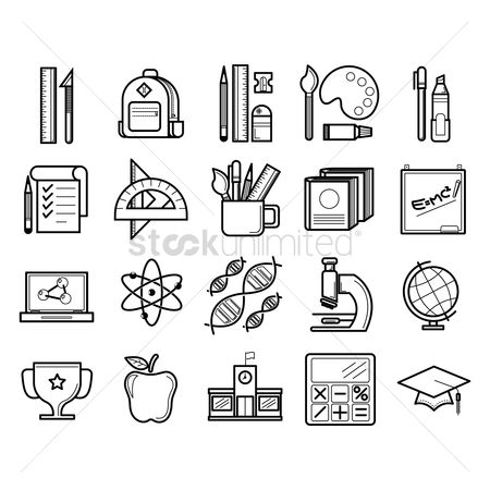 Linear : Educational icons