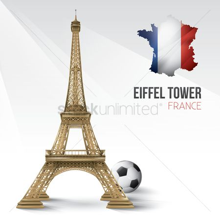 Tricolored : Eiffel tower