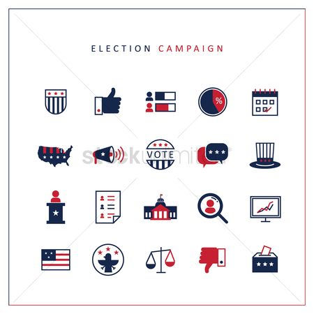Common balance : Election campaign icons