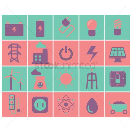 Nuclear : Electric icons
