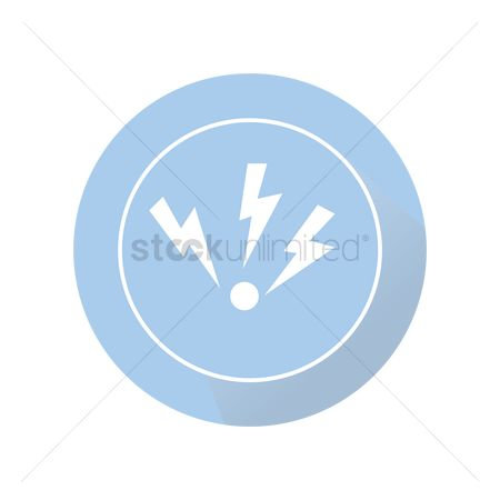 Charging icon : Electric power button